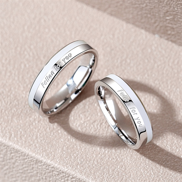 Fallen For You Couple Ring Silver