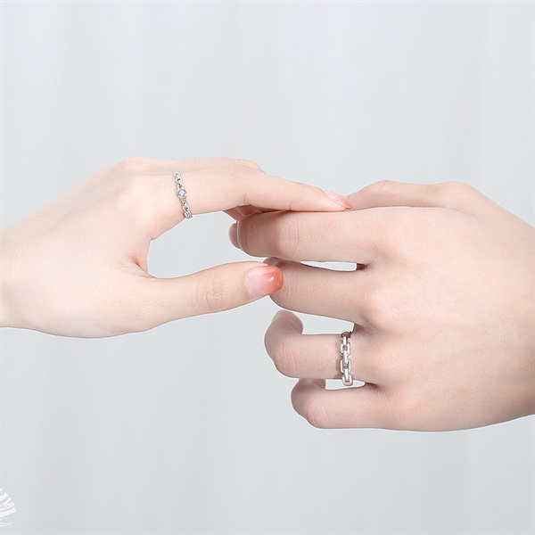 Couple Katia Silver Ring ( Freesize )