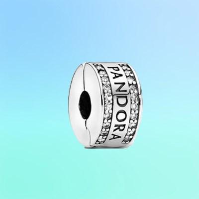 Pandora Logo Clip Charm