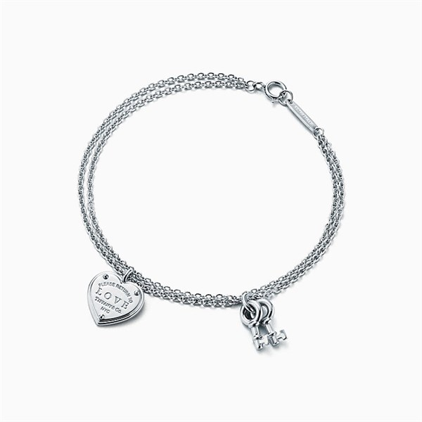 Tiffany & Co Silver Key and Heart