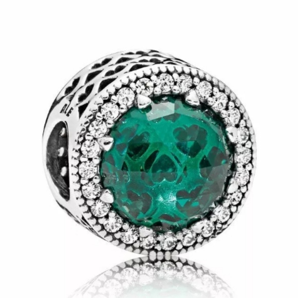 Jade Green Heart Radiant Charm