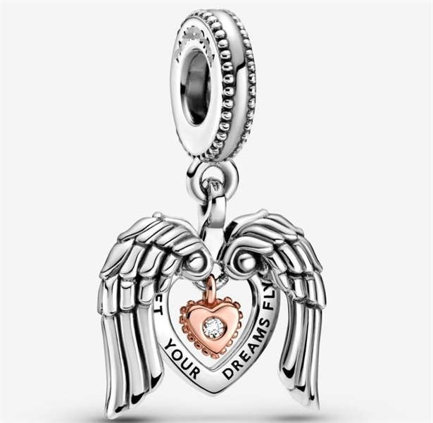 Heart Angle CLub Dangle Charm