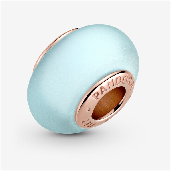 Matte Blue Sky Murano Glass Charm