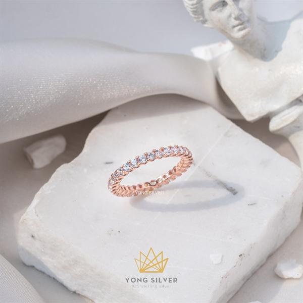 Basic Tennis Rosegold Ring