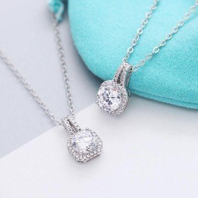 Tiffany Square Diamond Necklace