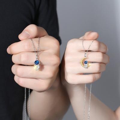Couple Astronaut Necklace