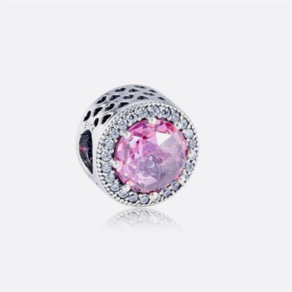 Pink Heart Radiant Charm