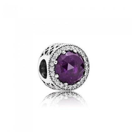 Purple Radiant Heart Charm Pandora
