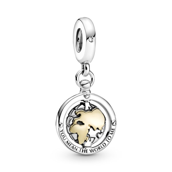 You mean the world to me dangle charm