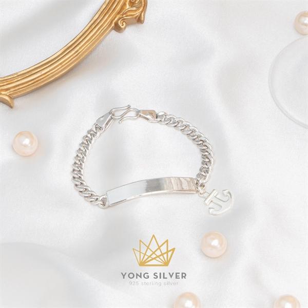 Anchor Rename Silver Bracelet ( Freesize )