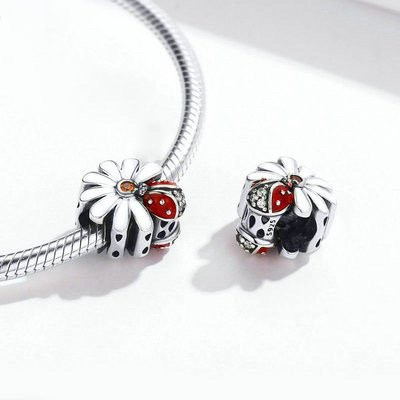 Daisy and Beetles Charm