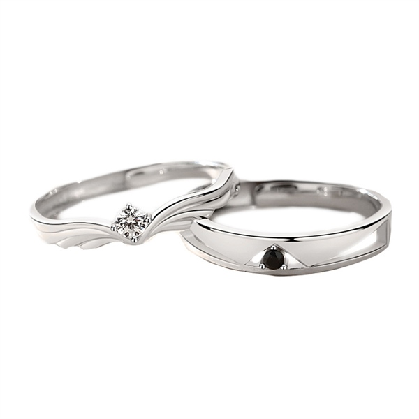 Couple Stephanie Silver Ring