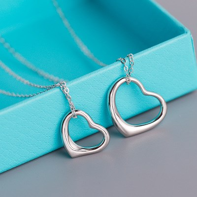 Tiffany Open Heart Pendant Necklace