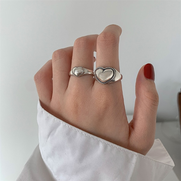 Vingate Heart Leo Silver Ring ( Freesize )