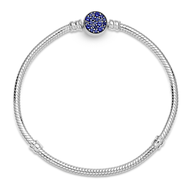 Pandora Moments Blue Pave Snake Chain
