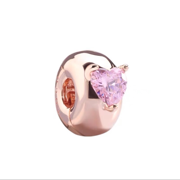 Pink Heart Clip RoseGold