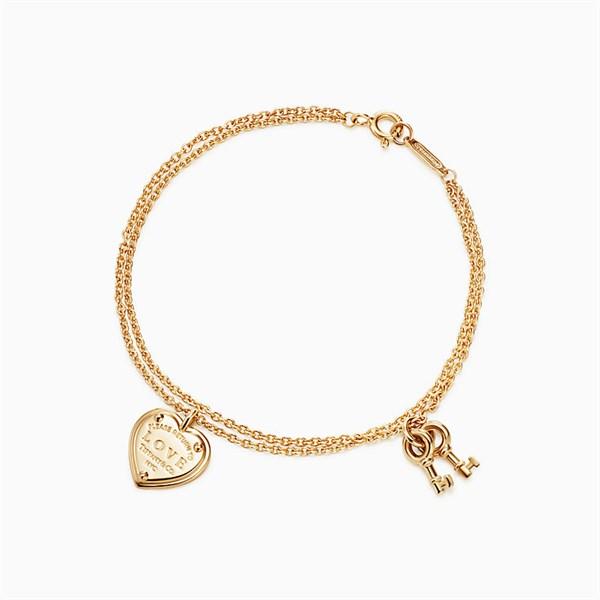 Tiffany & Co RoseGold Key and Heart
