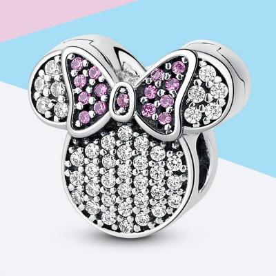 Disney Sparkling Minnie Mouse Clips Charm