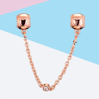 Pandora Heart Rosegold Safety Chain
