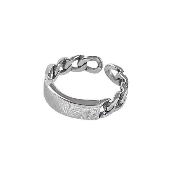 Cuban Cuff Ring ( Freesize )