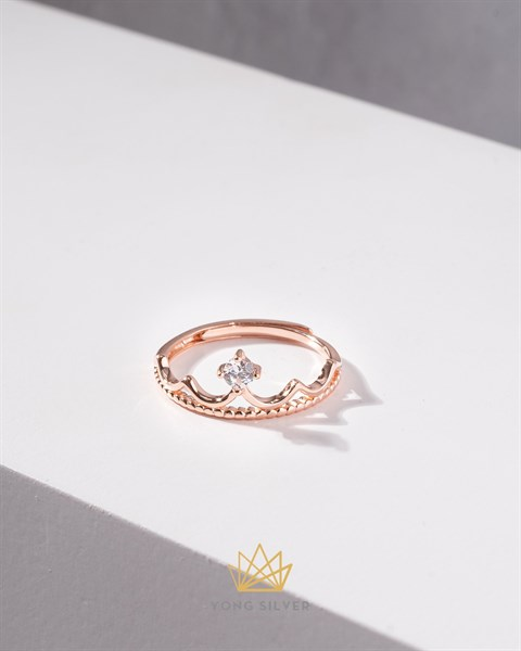 Diamond Queen Crown Rosegold Ring