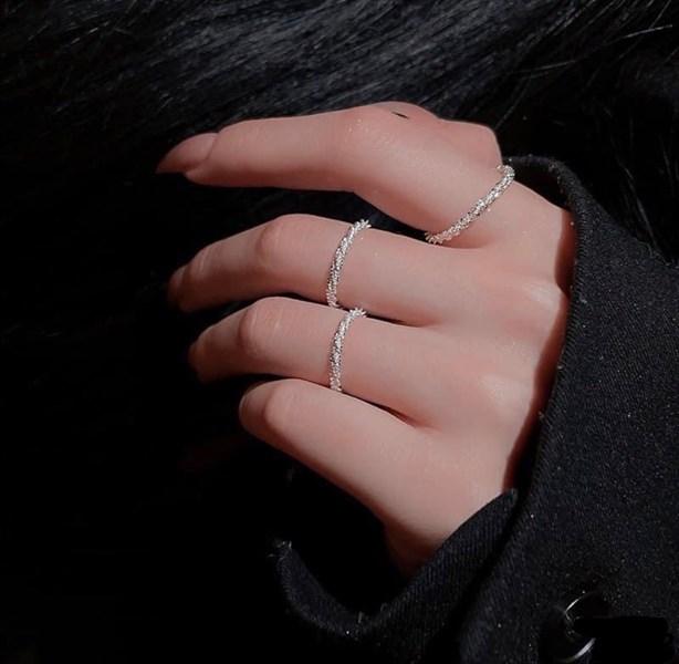 Shapeless Minimal Silver Ring