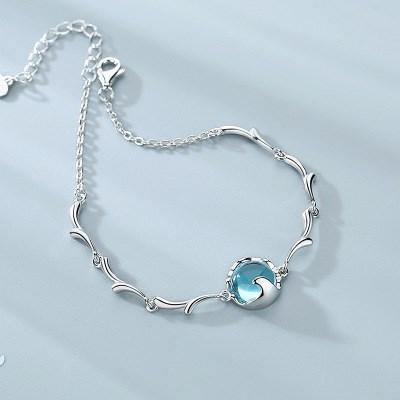 Wave-by-wave Silver Bracelet