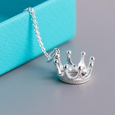 Tiffany Crown Silver Necklace