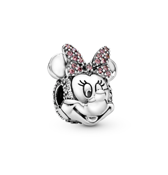 Disney Minnie Mouse Pink Pave Bow Clip Charm