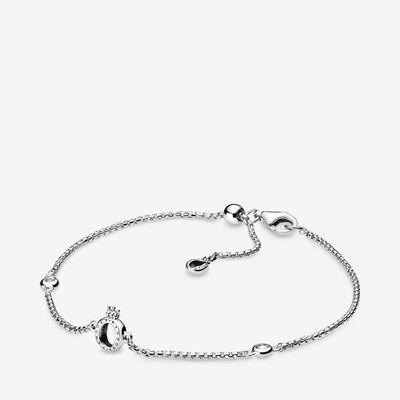 Sparkling Crown O Chain Bracelet