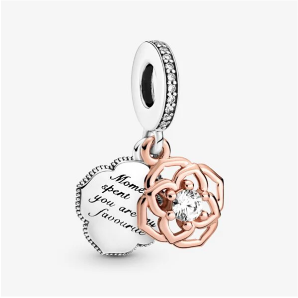 Two-tone Rosegold Dangle Charm